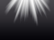 Light rays on the black background Stock Image