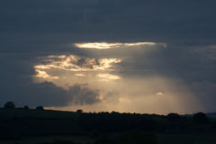 Light Rays. Bursting through the clouds Stock Photos