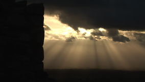 Light rays and castle stock video footage