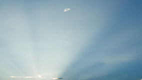 Light rays on clear blue sky Royalty Free Stock Photo