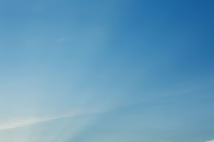 Light rays on clear blue sky Royalty Free Stock Images