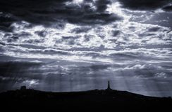 Light rays from clouds Royalty Free Stock Image