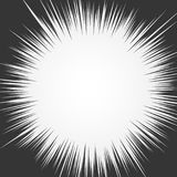 Light rays. Explosion vector illustration. Sun ray or star burst element. Light rays. Comic book black and white radial lines background. Rectangle fight stamp Royalty Free Stock Photos