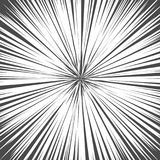 Light rays. Explosion vector illustration. Sun ray or star burst element. Light rays. Comic book black and white radial lines background. Rectangle fight stamp Royalty Free Stock Image