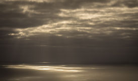 Light rays on the ocean surface Royalty Free Stock Image