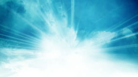 Light Rays Sky and Cloud Background Loop