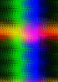 Light rays in spectral colours forming a cross Royalty Free Stock Image