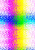 Light rays in spectral colours forming a cross Stock Photography