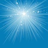 Light Rays and Stars. Abstract Background Illustration, Vector vector illustration