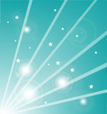 Light rays with stars Stock Photography