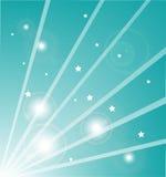 light rays stars Στοκ Φωτογραφία