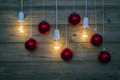 Light and red balls Stock Images