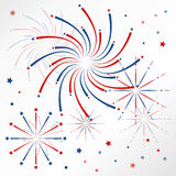 Light red blue firework on christmas holiday Stock Image