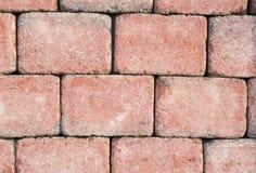 Light red brick wall texture Royalty Free Stock Photos