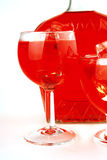 Light red dry wine Royalty Free Stock Photos