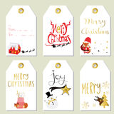 Light red gold tag with reindeer,fox Stock Photography