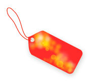 Light red spring tag on white background Stock Image