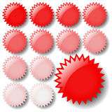 Light Red Star Icons Royalty Free Stock Photography