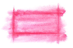 Light red watercolor frame Royalty Free Stock Photos