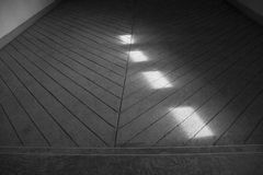 Light reflecting on the floor Royalty Free Stock Images