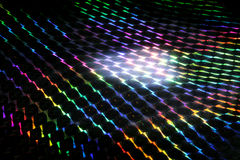 Light reflection. A prism separates white light into its colors royalty free stock images