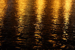 Light reflection. S on night river mirror abstract background Stock Photo