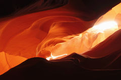 Light Reflection in Antelope Canyon,Arizona. Amazing Light Reflection in Antelope Canyon,Arizona Stock Images