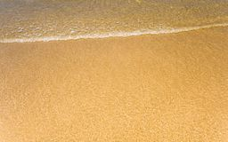 Light reflection on surface of movement sea on sand beach. Light reflection on the surface of movement sea on sand beach Royalty Free Stock Photography