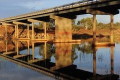 Light Reflection under Bridge Royalty Free Stock Photos