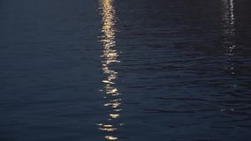 Light reflections of the moon on the sea stock footage