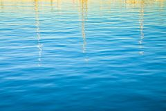 Light reflections in the water with copy space.  stock photos
