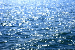 Light reflexes on water. Blurred background consisting of light reflexes on the water surface Stock Images