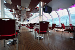 Light restaurant on board of ship Royalty Free Stock Image