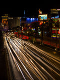 Light on the roads of las vegas nevada Royalty Free Stock Photos