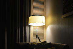 LIGHT IN A ROOM. Light in a hotel room in Kuala Lumpur Malaysia Stock Photos