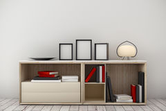 Light room interior with cabinet Royalty Free Stock Photos