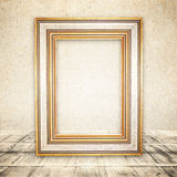 Light room or space with wooden floor . Retro background Royalty Free Stock Photos