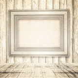 Light room or space with wooden floor. Retro background Stock Photography
