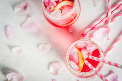 Light rose cocktail, rose wine Royalty Free Stock Photography