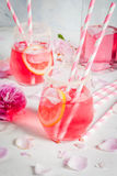 Light rose cocktail, rose wine Stock Image