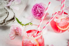 Light rose cocktail, rose wine Stock Images