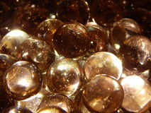 Light Rose Colored Glass Marbles Royalty Free Stock Images