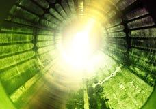 Light rotation tunnel experiment Stock Photos