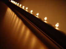Light row. Right for Christmas decoration Stock Photo