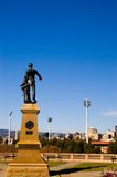 Light's Vision. The statue of Colonel William Light points the City of Adelaide stock photo