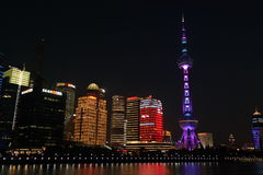 Light saber of Shanghai. Pearl tv tower of shanghai royalty free stock photography
