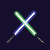 Light sabers Stock Images
