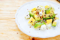Light salad with avocado and feta Stock Image
