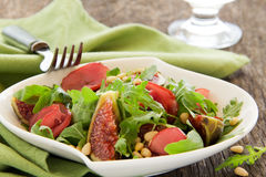 Light salad with figs Stock Photography