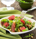 Light salad with figs Royalty Free Stock Photo